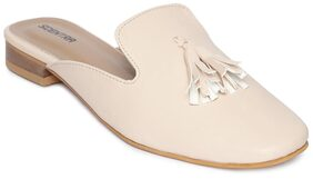 Scentra Cream Casual Shoes Women
