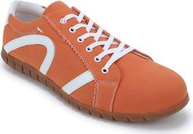 Scentra Men Orange Sneakers