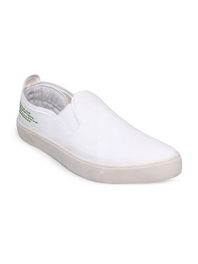 Scentra Men's White Canvas Casual Shoes