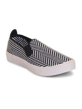 Scentra Men's Black Canvas Casual Shoes