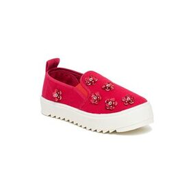 Scentra Red Canvas Casual Shoes