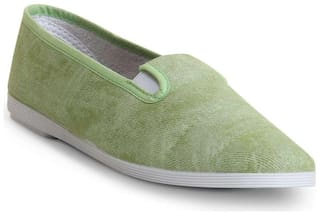 Scentra Women's Green Canvas Casual Shoes