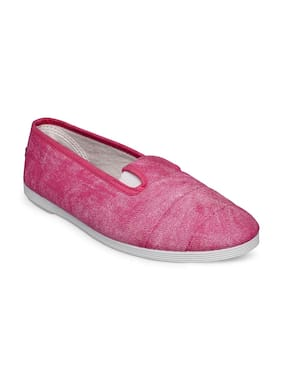 Scentra Women's Pink Canvas Casual Shoes