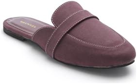 Scentra Women's Purple Casual Slip on Shoes