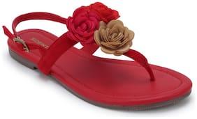 Scentra Women's Black Flats & Sandals