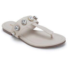 Scentra Women's Cream Flats & Sandals