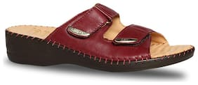 Scholl By Bata Women Maroon Sandals