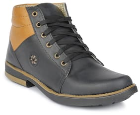 Semana Men Blue Ankle Boots - HIGH ANKLE