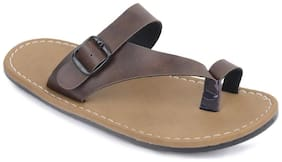 Semana Brown Flat Slip on