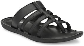 Shences Men Black Sandals