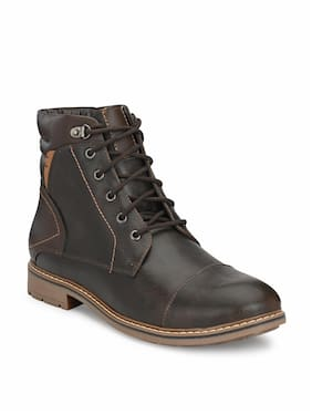 Shences Men Brown Outdoor Boots - TRS9013BROWN