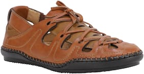 Shences Men Tan Sandals