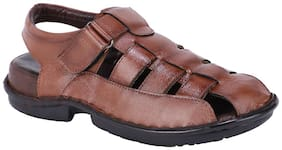 Shences Men Brown Sandals