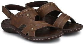 Shences Men Brown Casual Sandal