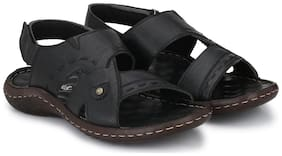 Shences Men Black Casual Sandal