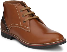 Shences Men's Brown Ankle Boots