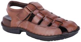 SHENCES MENS GENUINE LEATHER SANDAL