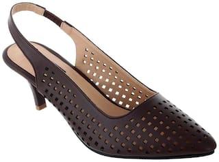 Sherrif Shoes brown sling back sandals