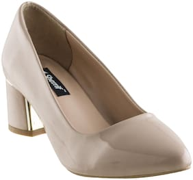 SHERRIF SHOES BEIGE Block Heels