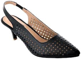 Sherrif Shoes black sling back sandals