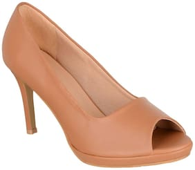 SHERRIF SHOES Tan Stiletto Heels