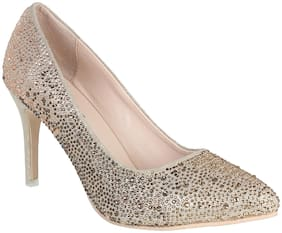 SHERRIF SHOES Women's Golden Fashion Pumps-37