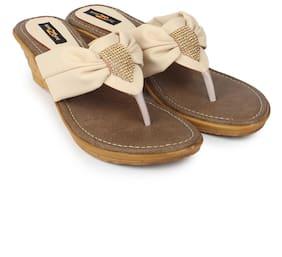 Shezone Beige And Cream Heels