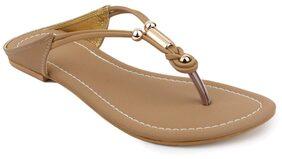 Shezone Women Beige Flats (Size-36)