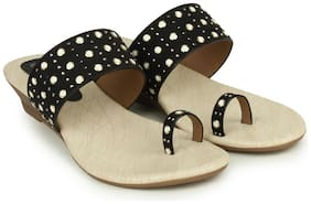 Shezone Black Slippers
