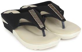 Shezone Black Wedges Heels