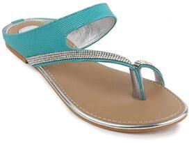 Shezone Women Blue Flats (Size-36)