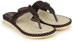 Shezone Brown Slippers