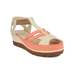 Shezone PeachPuff Wedges Heels