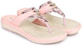 Shezone Women Pink Slippers
