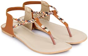 Shezone Women Tan Sandals