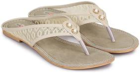 Shezone Women Cream Sandals