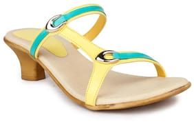 Shezone Yellow Heels