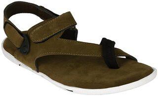 Shoe Island Men Green Sandals & Floaters
