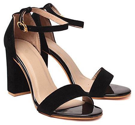 Buy Shoe Lab Women Black Heeled Sandals