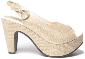 Shoe Lab Women Gold Sandals
