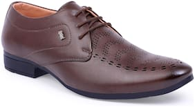 shoe mate Brown Lace-up Shoes