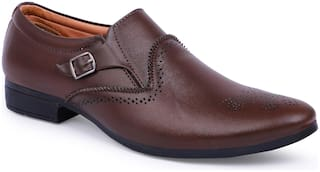 shoe mate Brown Slip-on Shoes