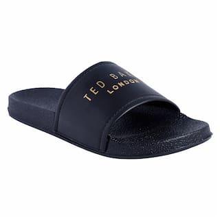 Shoe Mate Men Black Sliders - 1 Pair