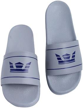 Shoe Mate Men Grey Sliders - 1 Pair