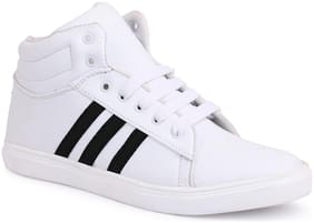 Shoe Mate Men White Sneakers -