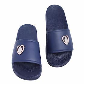 Shoe Mate Women's Navy Flip Flops