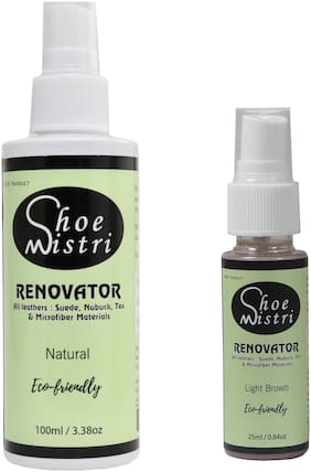 Shoe Mistri Shoe Renovator Combo ( Natural & Light Brown)