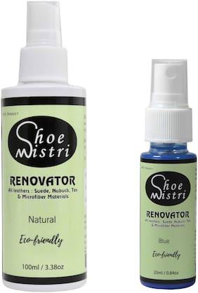 Shoe Mistri Shoe Renovator Combo (Natural & Blue)