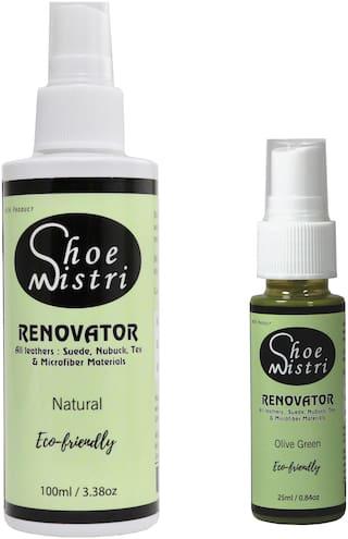 Shoe Mistri Shoe Renovator Combo (Natural & Olive Green)