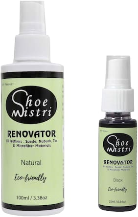 Shoe Mistri Shoe Renovator Combo (Natural & Black)